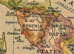 The Kingdom of Etruria, Tuscany's successor state during the Napoleonic Wars