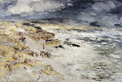 William McTaggart's The Storm, 1890, incorporating elements of Impressionism into the Scottish landscape tradition