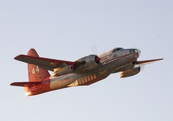 Neptune Aviation Services' Tanker 44 takes off from Fox Field to fight the California wildfires of October 2007