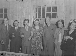 Drinks after golf in 1948 in Montreal