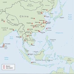 OSS missions and bases in East Asia