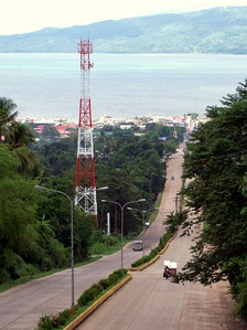A view of the bay in the background from Pagadian City