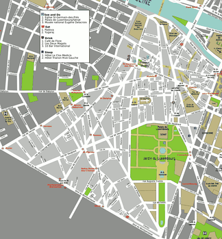 Map of the 6th arrondissement
