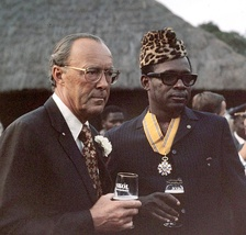 Mobutu with the Dutch Prince Bernhard in Kinshasa in 1973