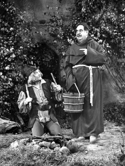 Gilbert as Friar Tuck and Red Skelton as Robin Hood in this Red Skelton Show 1956 sketch.