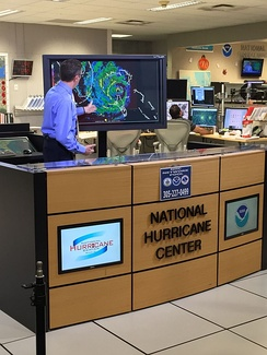 National Hurricane Center Director Richard Knabb (pictured) regularly filmed briefings on the forecast and expected impacts of Hurricane Matthew in the United States.