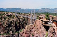 Royal Gorge Bridge in 1987