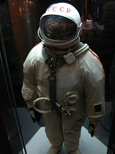 A Soviet space skafander in the Museum of Cosmonautics, Moscow