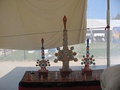 Religious objects in the craft tent