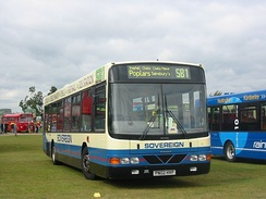 Sovereign Bus & Coach Wright Renown bodied Volvo B10BLE in September 2004