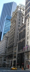 The narrow Fifth Avenue face of The St. Regis.