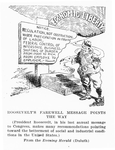 In his waning days in office, Roosevelt proposed numerous reforms