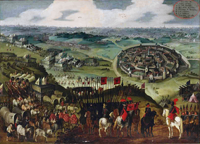 The siege of Aachen by the Spanish Army of Flanders under Ambrogio Spinola in 1614