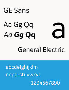 GE Sans (used since 2014)