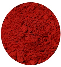 Vermilion pigment, made from cinnabar. This was the pigment used in the murals of Pompeii and to color Chinese lacquerware beginning in the Song dynasty.