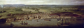 Woolwich Dockyard in 1790