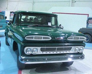 "(Left): C/K pickup, the first fully-manufactured model by GM, launched in 1960; (right): Chevrolet Nova (rebranded ""Chevy"" in Argentina) became a success, with more than 65,000 units sold"