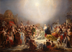 Domingos Sequeira was one of the most prolific neoclassical painters. (Adoration of the Magi; 1828).