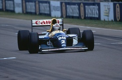 Alain Prost during the race in Adelaide on 7 November 1993