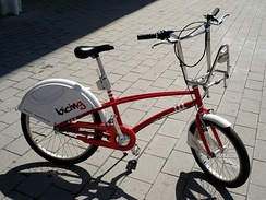 A Bicing bicycle.