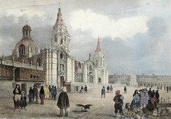 Lima Cathedral in 1846