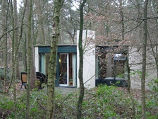 An original Center Parcs Cottage (named 'Villas' in UK resorts), designed by the Dutch architect Jaap Bakema.