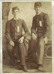 Joseph Budd (right), killed at Vassar Hill while serving in Company H of Merrill's Horse.