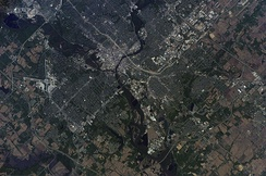 Astronaut photography of Des Moines Iowa taken from the International Space Station