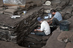 Excavation of the upper part of the deposit