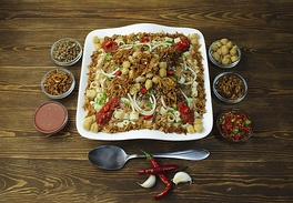 Kushari, one of Egypt's national dishes.