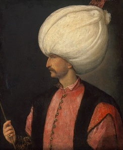 Suleiman the Magnificent, Padishah of the Ottoman Empire. Portrait attributed to Titian c.  1530