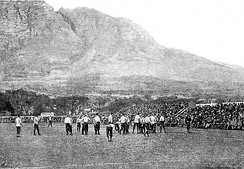 England v Cape Colony, 1891. The first match of the Bill MacLagan undefeated tour of South Africa.