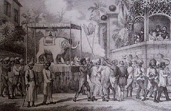 Hindu festival for the indentured Indian workers, on the French colony Réunion.