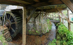 One of Finch Foundry's water wheels.