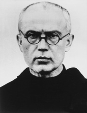 Polish Franciscan, Saint Maximilian Kolbe, at Auschwitz, volunteered to die in place of another prisoner.