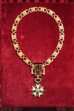 Medal of the Grand Master at the Elysee Palace