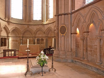 Grosseteste's Tomb and Chapel in Lincoln Cathedral