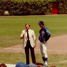 Krukow interviewed at Wrigley Field by Milo Hamilton in 1981