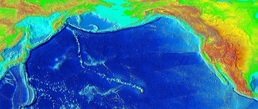 Over millions of years, the Pacific Plate has moved over the Hawaii hotspot, creating a trail of underwater mountains that stretch across the Pacific