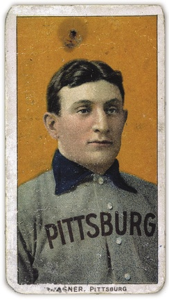 The American Tobacco Company's line of baseball cards featured shortstop Honus Wagner of the Pittsburgh Pirates from 1909 to 1911. In 2007, the card shown here sold for $2.8 million.[170]
