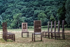 The Jurors art installation in bronze at Runnymede