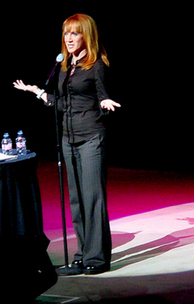 Griffin performing stand up in Las Vegas in 2008