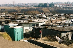 Slums in Soweto, suburb of Johannesburg, South Africa.