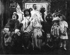 Baum surrounded by the characters in The Fairylogue and Radio-Plays