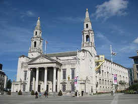 Leeds Civic hall, Millennium Square, meeting place of Leeds City Council