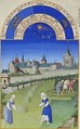 Peasants in fieldsTrès Riches Heures.