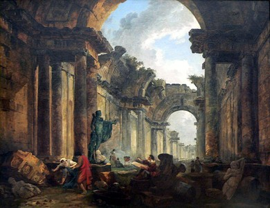 Imaginary view of the gallery of the Louvre as a ruin, by Hubert Robert (1796), Louvre, Paris
