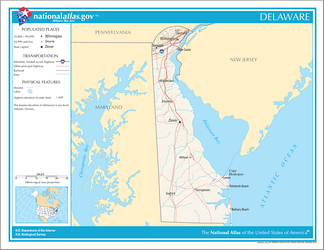 An enlargeable map of the state of Delaware