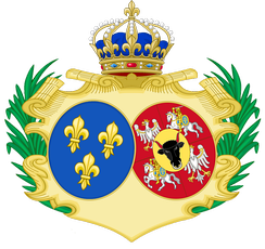 Coat of Arms of Marie as Queen of France