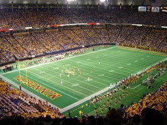 Metrodome during Gophers game in 2003.